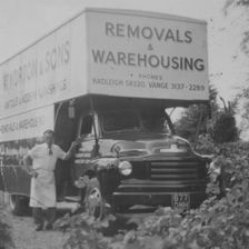 old removal van